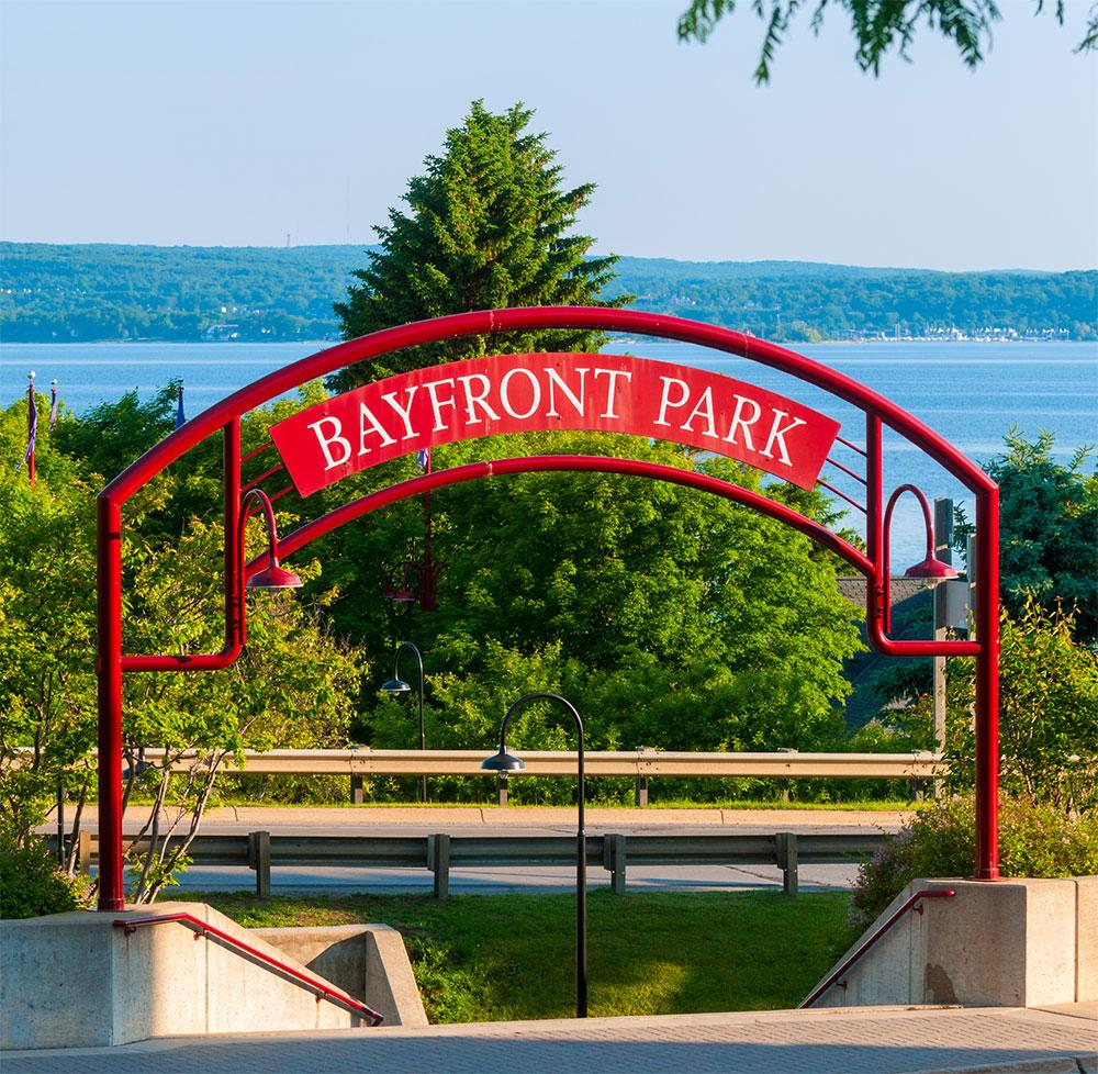 Bayfront Park archway photo