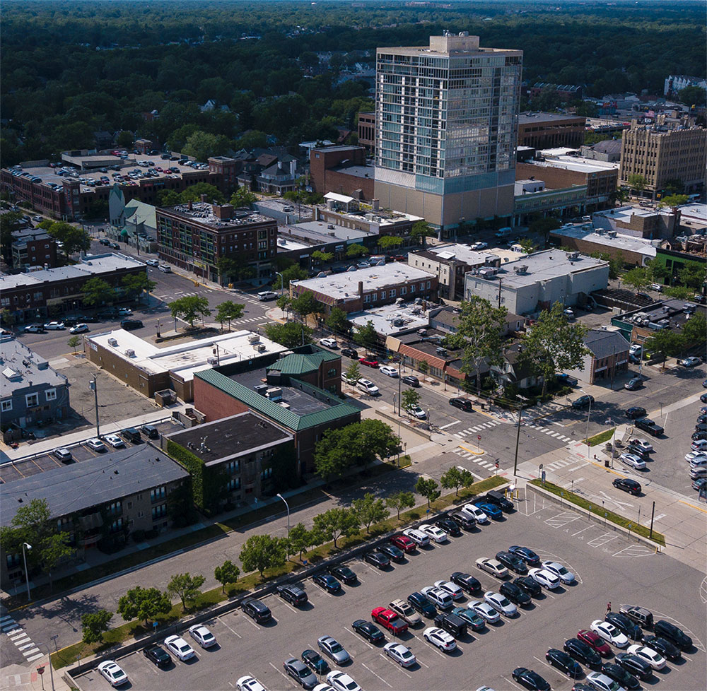 Aerial city photo in Oakland County
