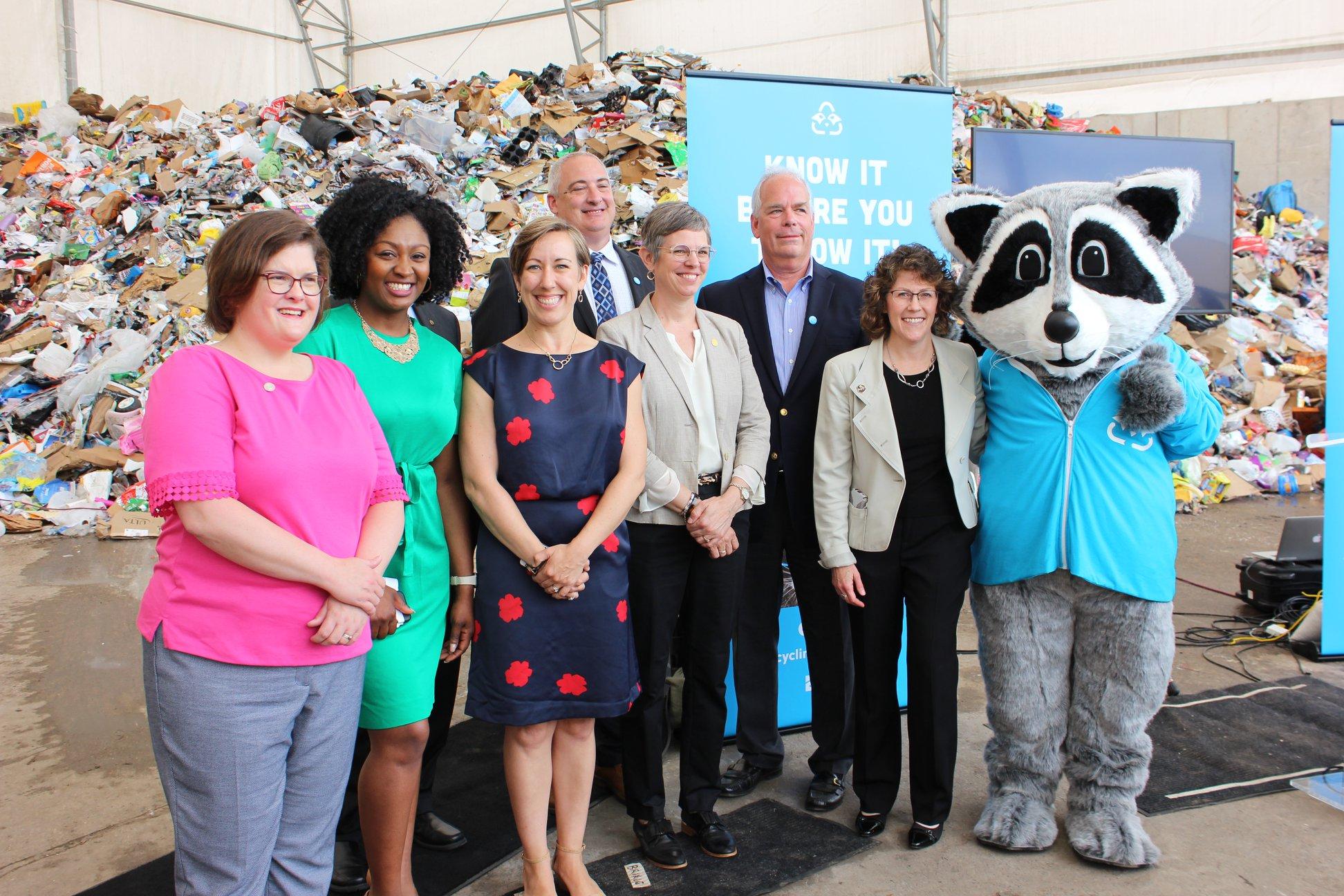 Members of EGLE with Raccoon Mascot
