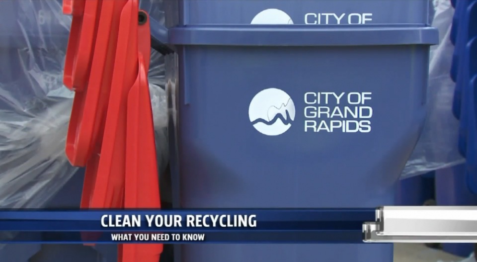 City of Grand Rapids Recycling Bin
