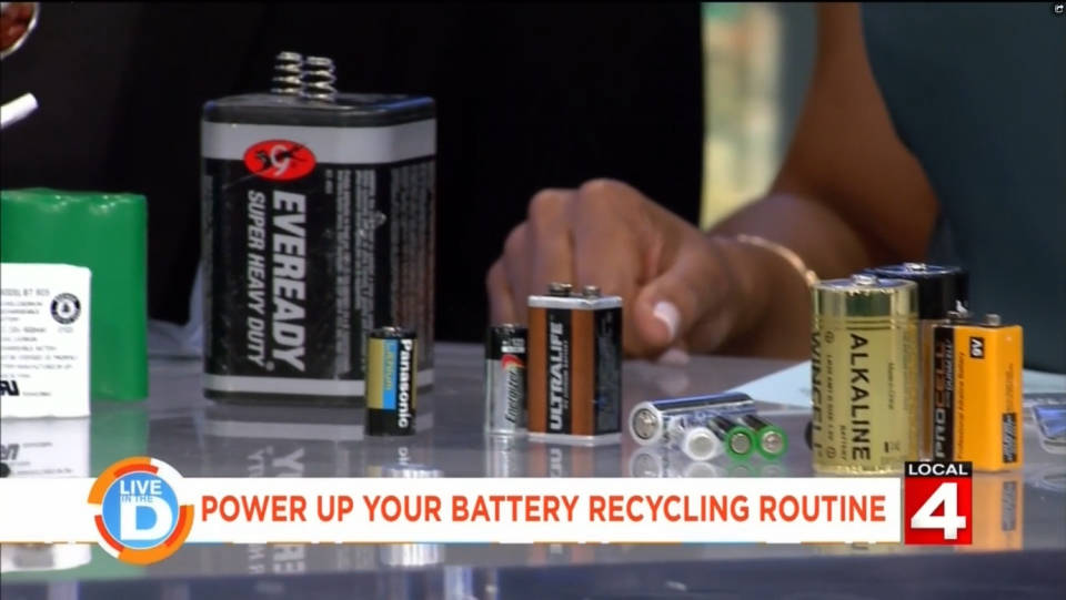 Multiple types of batteries placed on a table