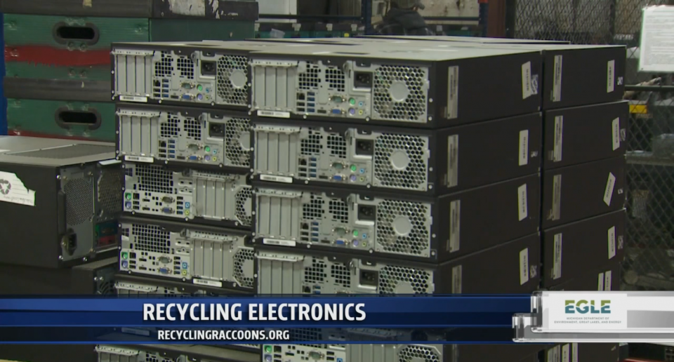Unworking electronics wait to be recycled