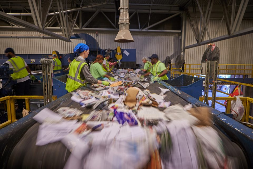 Sorters at Kent County Recycling & Education Center